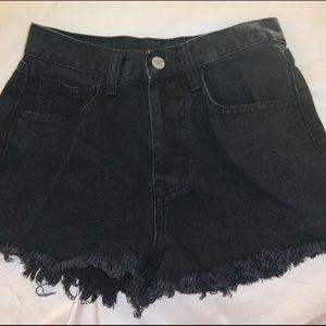 Black distressed Brandy Melville shorts